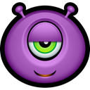 Cyclops, monster, monsters, Avatar, Alien, Emoticon MediumOrchid icon
