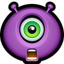 Emoticon, Avatar, Cyclops, Alien, monsters, monster MediumOrchid icon