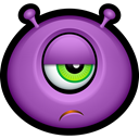 Emoticon, monster, monsters, Alien, Avatar, Cyclops MediumOrchid icon