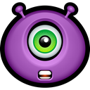 monsters, Avatar, Alien, monster, shocked MediumOrchid icon