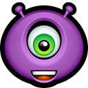 Amazed, glad, happy, Avatar, monsters, Emoticon, monster MediumOrchid icon