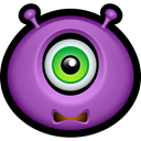 monsters, monster, Avatar, scared MediumOrchid icon