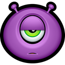 Emoticon, smiley face, Avatar, monster, Cyclops, Alien, monsters MediumOrchid icon