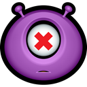 monster, Avatar, Alien, monsters, Emoticon, Dead MediumOrchid icon