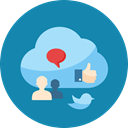 network, Internet marketing, twitter, web, Cloud, Comment, internet, online marketing, Communication, seo, Users, Connection, speech bubble, Blogging, social media cloud, social media, Cloud computing DarkCyan icon