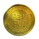 paypal, gold, coin DarkGoldenrod icon