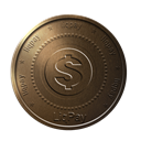 bronze, coin, liqpay Black icon
