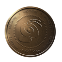 bronze, webmoney, Ant, coin Black icon