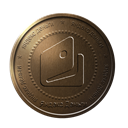 bronze, webmoney, coin, yandex money Black icon
