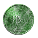 coin, perfect, malahit, Money, perfectmoney Black icon