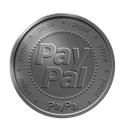 paypal, coin DimGray icon