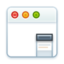 App, web, Application, layout, window, Browser DarkGray icon