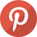 pin, share, Social, pinterest, Logo IndianRed icon