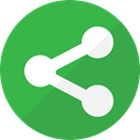 Communication, Connection, share, Link, web, social media, network, Social LimeGreen icon