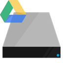 Shading, hardware, google, drive Silver icon