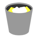 yellow, waste, Trash, paper, Full, recycle, rubbish, grey, Bin DarkGray icon