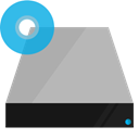 drive, Shading, hardware, Blu ray Silver icon