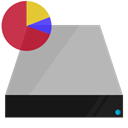 pie, Shading, Data, hardware, drive, chart Silver icon