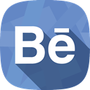 Behance, social network, portfolio CornflowerBlue icon