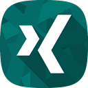 Xing, recruitment, social network Teal icon