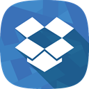 dropbox, files, social network, storage SteelBlue icon