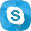 Skype, Char, social network, online conversation DodgerBlue icon