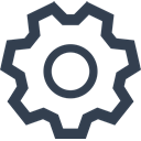 settings, technology, tools, preferences, configuration, Options, tool, Gear, Cog, gears, machine part, Setting DarkSlateGray icon