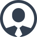 people, Circle, Man, Badge, profile, Avatar, Human, user, Business, Id, male, person DarkSlateGray icon