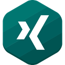 Xing, social network Teal icon