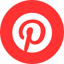 pinterest logo, pins, red pinterest, pinterest, pin, pinning Crimson icon