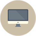 Laptop, Apple, mac, monitor, screen, Computer Silver icon