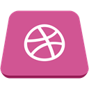 Dribble, social network, square PaleVioletRed icon