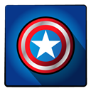 Super, captainamerica, Captain, hero MidnightBlue icon