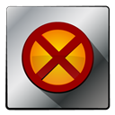 Super, xman, hero DarkRed icon