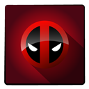hero, Super, Deadpool Maroon icon