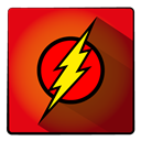 hero, Super, Flash Red icon
