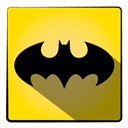 hero, Super, Batman, bat Gold icon