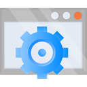 Options, Cog, optimization, settings Lavender icon
