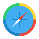 Pointer, direct, safari, path, northeast, Browser, way, pathfinder, Direction, compass, navigation CornflowerBlue icon