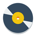 vinyl, disc DarkSlateGray icon