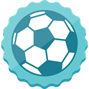 Socker, Football SkyBlue icon