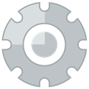 Gear, settings Silver icon