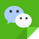 Communication, Wechat, wechat logo LimeGreen icon