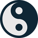 yin, ying, medicine, yan, healthcare, medical, Yang, health DarkSlateGray icon