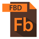 adobe, fbd extention, extention, file format DarkOliveGreen icon