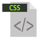 file format, adobe, css extention, extention, Css Silver icon