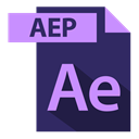 aep, file format, extention, adobe, aep extention MidnightBlue icon