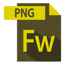 adobe, fw extention, extention, file format DarkOliveGreen icon