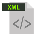 xml, adobe, xml extention, file format, extention Silver icon