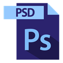 file format, Psd, extention, psd extention MidnightBlue icon